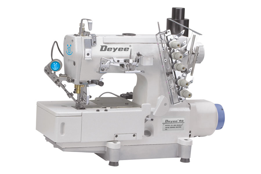 Flat-bed type high speed interlock sewing machine with auto trimming