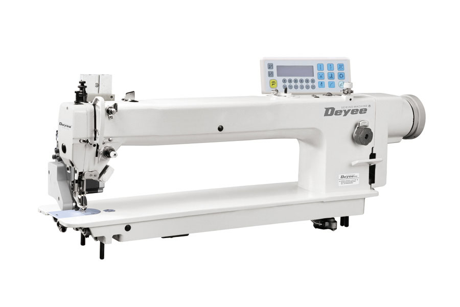 Direct Drive Long Arm Heavy Duty Top And Bottom Feed Lockstitch Sewing Machine With Auto Thread Trimmer(rear puller)