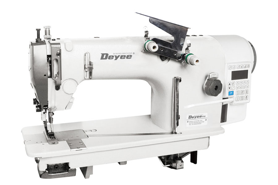 Twin-needle Direct Drive Top And Bottom Feed Chainstitch Sewing Machine