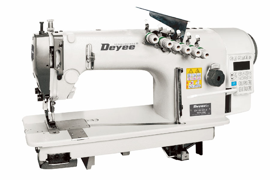 Direct-Drive Three-needle Top And Bottom Feed Chainstitch Sewing Machine