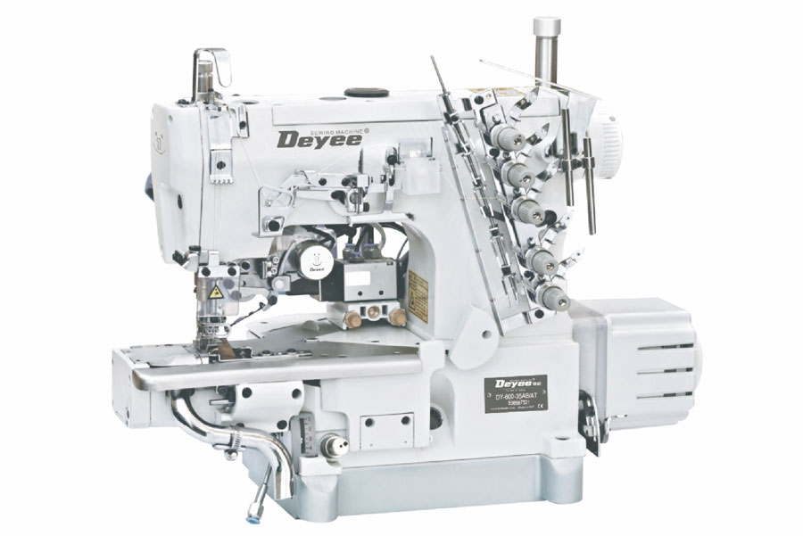 Direct-drive  Cylinder-bed lnterlock Sewing Machine(left Knife)With Auto Trimmer