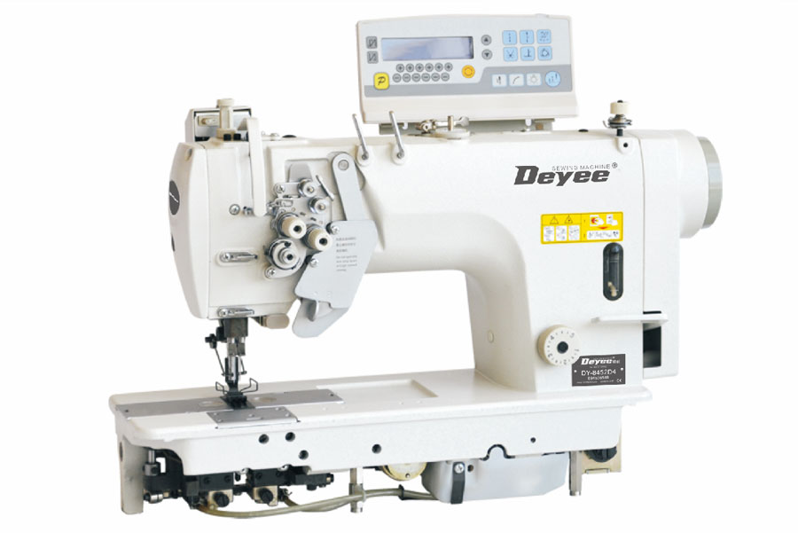 Direct-drive Double-needle Lockstitch Machine With Auto Trimmer